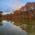 Texas Hill Country Images - Pedernales Falls State Park Autumn Sunset 5 by RobGreebonPhoto