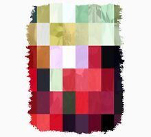 Mixed Color Poinsettias 2 Abstract Rectangles 3 Unisex T-Shirt