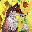 Sitting Fox by Lynnette Shelley