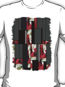 Mixed Color Poinsettias 2 Art Rectangles 7 T-Shirt