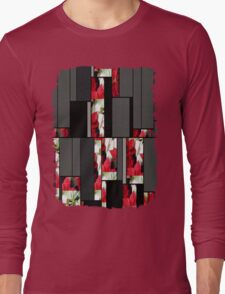 Mixed Color Poinsettias 2 Art Rectangles 7 Long Sleeve T-Shirt