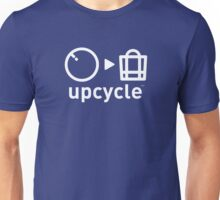 upcycle bicycle tube / white Unisex T-Shirt