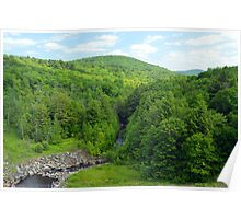 Fishing at the Clam River Dam Poster