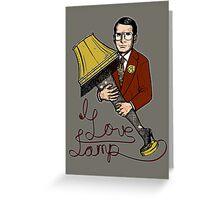 I Love Lamp!! Greeting Card