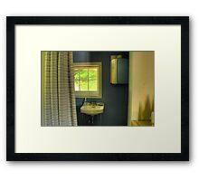 Cottage Bathroom Framed Print