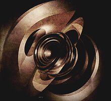 Vintage Metal Abstract by perkinsdesigns