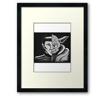 Trek Wars - B & W Framed Print