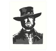 The Man With No Name Art Print