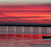 southend pier sunset Sticker
