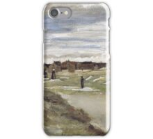 Vincent Van Gogh  - Bleachery at Scheveningen, 1882 iPhone Case/Skin