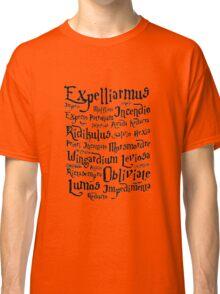 Harry Potter Magic Spells quote Classic T-Shirt