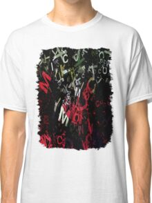 Mixed Color Poinsettias 2 Letters 1 Classic T-Shirt