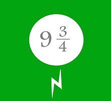 Harry Potter Platform Nine And Three Quarters Green by SarahJaneChamp