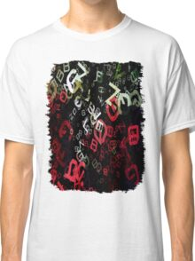 Mixed Color Poinsettias 2 Letters 3 Classic T-Shirt