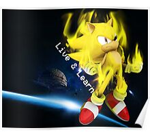 Super Sonic - Live & Learn Poster