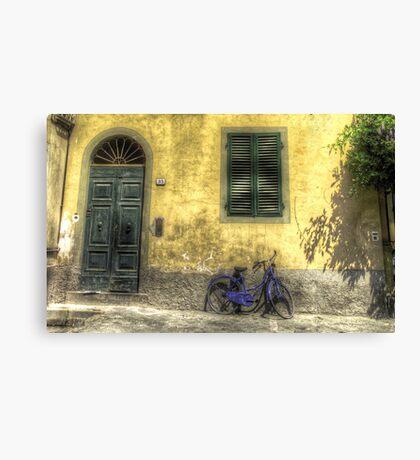 Blue Bike in Lucca Canvas Print