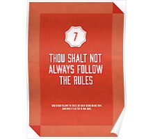 Commandment #7 of graphic design Poster
