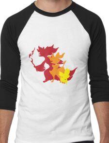 Fennekin Braxian Delphox Men's Baseball ¾ T-Shirt