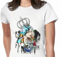 Fancy Vintage 'Bitch Please'  Womens Fitted T-Shirt