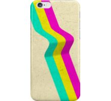 Minimal Glitch Colours iPhone Case/Skin