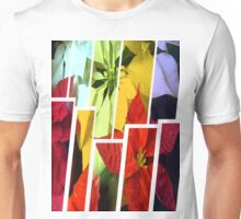 Mixed Color Poinsettias 2 Tinted 2 Unisex T-Shirt
