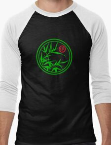 Zen Kamon (Green Version) Men's Baseball ¾ T-Shirt