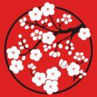 Plum Blossoms - White by mingtees