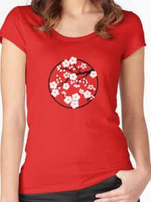 Plum Blossoms - White Women's Fitted Scoop T-Shirt