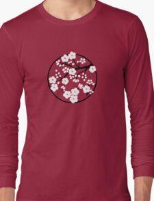Plum Blossoms - White Long Sleeve T-Shirt