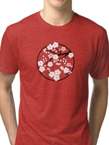 Plum Blossoms - White Tri-blend T-Shirt