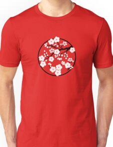 Plum Blossoms - White Unisex T-Shirt