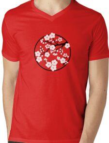 Plum Blossoms - White Mens V-Neck T-Shirt