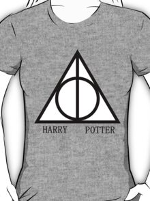 Harry Potter Deathly Hallows Triangle Red T-Shirt