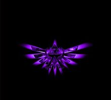 Triforce Of Courage - Purple by iPinkly