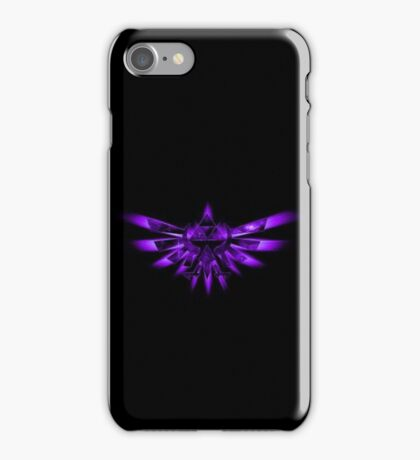 Triforce Of Courage - Purple iPhone Case/Skin