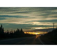 Sunset In Cape Breton Highlands National Park Photographic Print