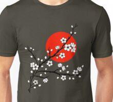 Plum Blossom Moon - White Unisex T-Shirt