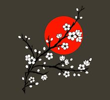 Plum Blossom Moon - White Unisex T-Shirt