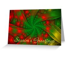 Christmas Ribbons Card Greeting Card