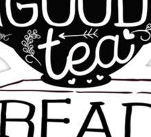 Tea Read Books Sticker