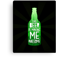 Typography - Beer Canvas Print