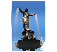 The Genius of Water - Fountain Square Cincinnati Ohio Poster
