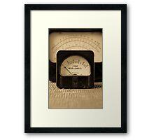 Vintage Electrical Meters Framed Print