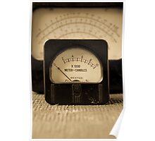 Vintage Electrical Meters Poster