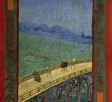 Vincent Van Gogh  - Bridge in the rain after Hiroshige, 1887 by famousartworks