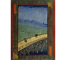 Vincent Van Gogh  - Bridge in the rain after Hiroshige, 1887 Photographic Print