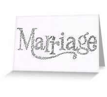 Marriage Is Greeting Card