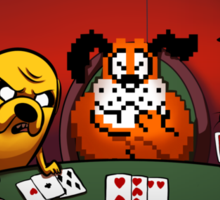 Dogs Playing Poker Sticker