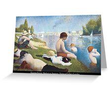 Georges Seurat - Bathers at Asnières Greeting Card