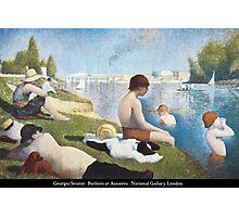 Georges Seurat - Bathers at Asnières Photographic Print
